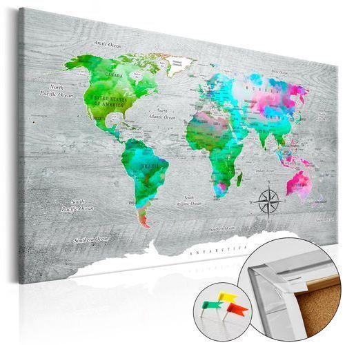 Obraz na korku - zielony raj [mapa korkowa] marki Artgeist