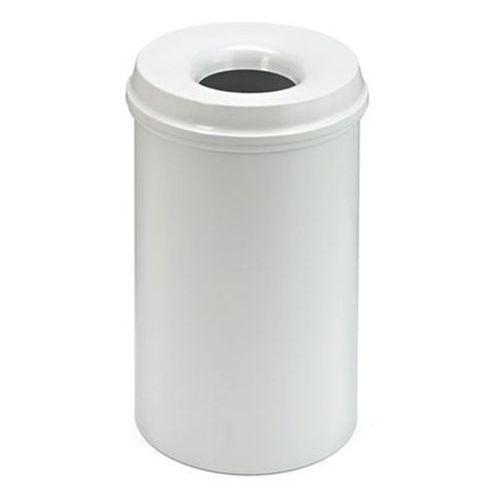 Bezpieczny kosz na papier, poj. 20 l, wys. 426 mm, jasnoszary. Korpus z blachy s
