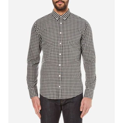 men's epidoe checked long sleeve shirt - open white - l wyprodukowany przez Boss orange