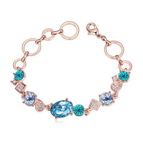EXCLUSIVE Bransoletka z kryształami niebieska - NIEBIESKA