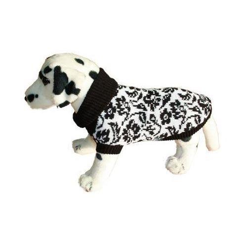 sweter dla psa kwiatki czarno-białe rozmiary 1-6 marki Ami play