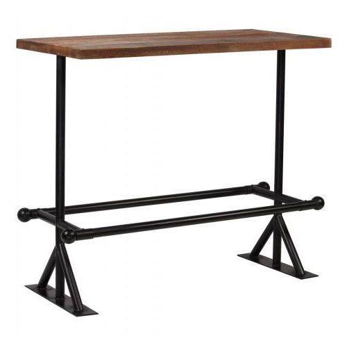 Stół barowy industrialny ruth – ciemnobrązowy marki Elior