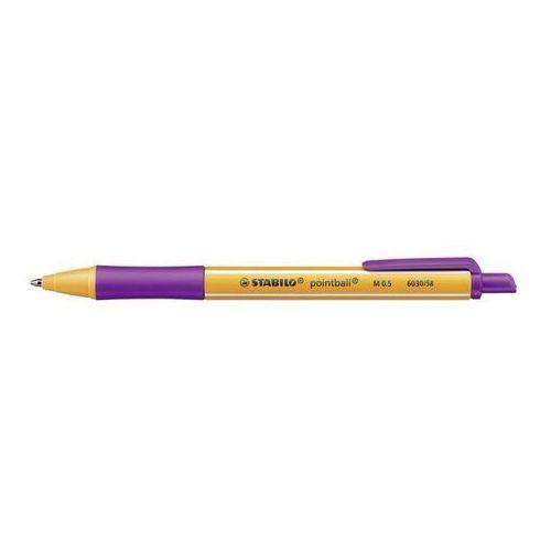 Długopis pointball 6030/58 fioletowy marki Stabilo