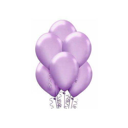 Balony lateksowe metaliczne duże - lawendowe - 100 szt.