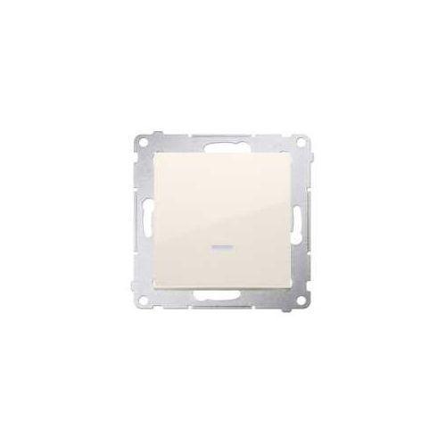 Przycisk pojedynczy Simon 54 DP1AL.01/41 zwierny bez piktogramu z podświetleniem LED kremowy Kontakt-Simon