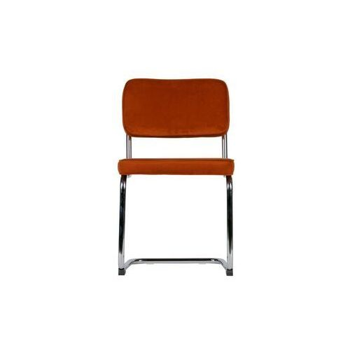 Woood krzesło set of 2 aksamitne z metalową ramą rdzawe 373584-r