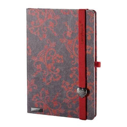Notes A5 Lanybook Dreamy Moments w kratkę szary fuksja (8057432195714)