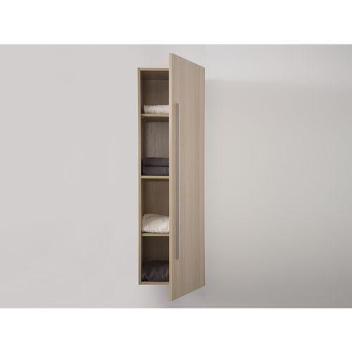 Meble łazienkowe - szafka wisząca łazienkowa beżowa - MATARO z kategorii Szafki łazienkowe