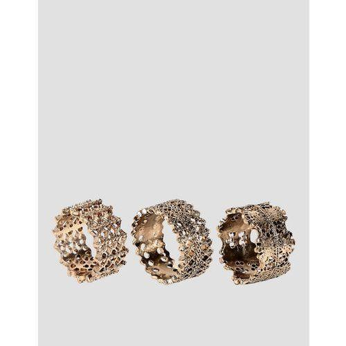 multipack filigree rings - gold marki Glamorous