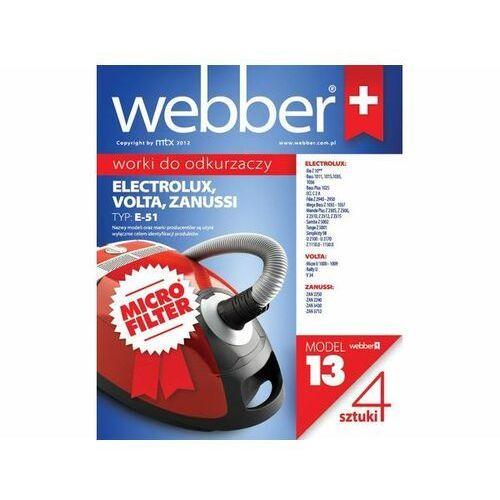 WEBBER Worki do odkurzaczy micro ELECTROLUX XIO E51 (13) 4 szt.