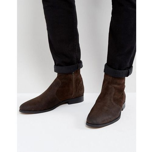 Frank Wright Deconstructed Boots Brown Suede - Brown