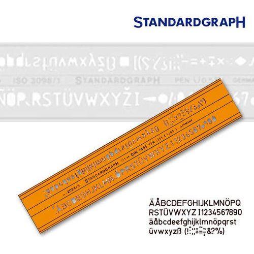 Szablon literowy h-profil prosty 10mm x1 marki Szablony techniczne