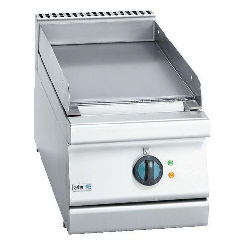 Płyta grillowa elektryczna gładka chrmowowana, 350x775x290 mm | , block cook 700 marki Asber
