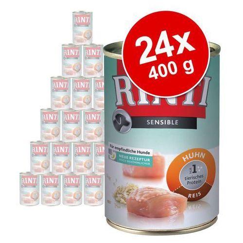 sensible - kurczak i ryż 24x400g marki Rinti