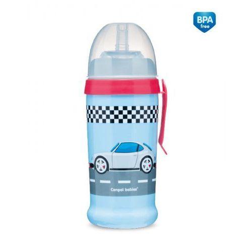 Canpol bidon niekapek racing 350ml: kolor - turkusowy marki Canpol babies