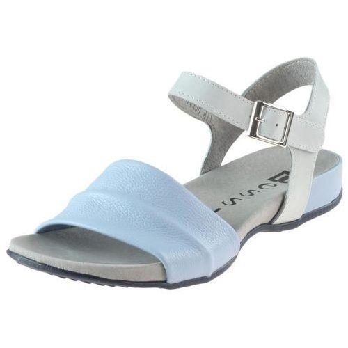 Sandały 17181 - białe 11 + niebieskie marki Nessi