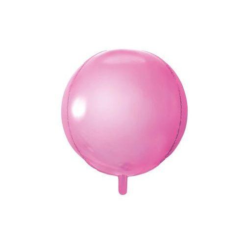 Balon foliowy kula jasny róż - 40 cm - 1 szt.