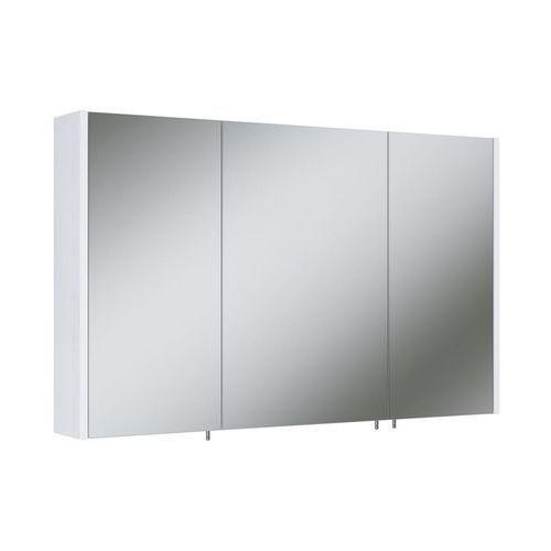 Szafka lustrzana bez oświetlenia TECHNO 100 3D WHITE ELITA (5907546828233)