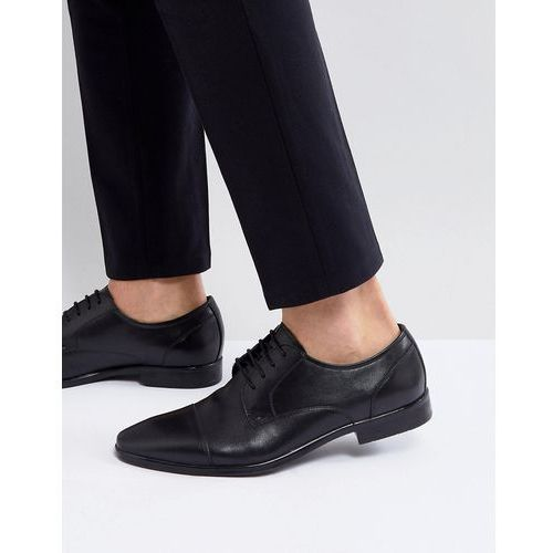 Pier One derby shoes in black leather - Black
