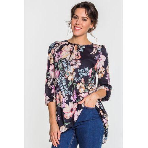 Granatowa bluzka w kwiaty - marki Jelonek
