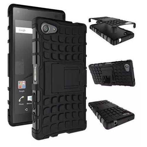 Perfect Armor Czarna   Pancerna obudowa etui dla Sony Xperia Z5 Compact - Czarny z kategorii Futerały i pokrowce do telefonów