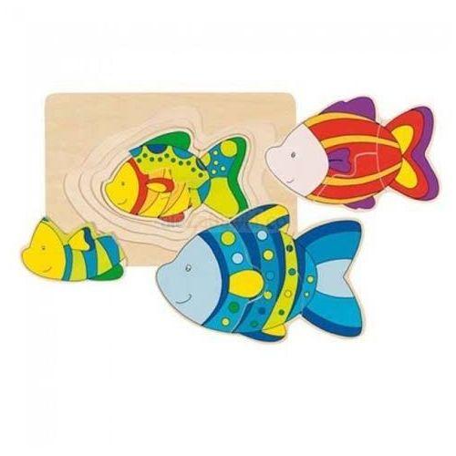 Drewniana układanka warstwowa wzór rybki, 57897 marki Goki