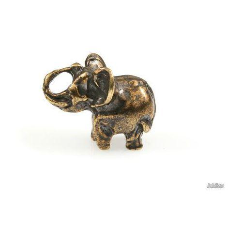 Figurka słonik pękaty bąbel talizmany słoń kolor stare złoto zwierzęta marki Jubileo.pl
