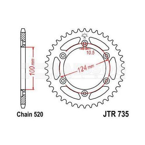 Zębatka tylna stalowa jt 735-41, 41z, rozmiar 520 2301077 ducati supersport 900 marki Jt sprockets