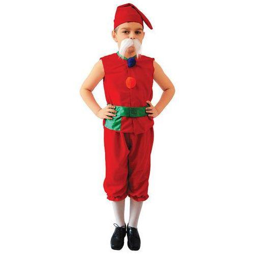 Kostium Krasnal Czerwony rozmiary: od 98 cm do 140 cm - XS, S, M, L - L - 134/140 cm, towar z kategorii: Kostiumy dla dzieci
