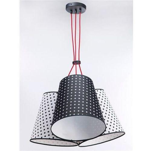 Lampa wisząca necar 3 3223 - biały w grochy/czarny w grochy marki Namat