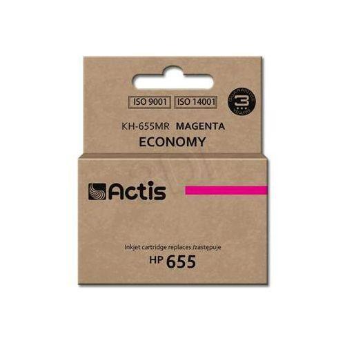 Tusz  kh-655mr (do drukarki hewlett packard, zamiennik hp 655 cz111ae standard 12ml magenta chip) marki Actis