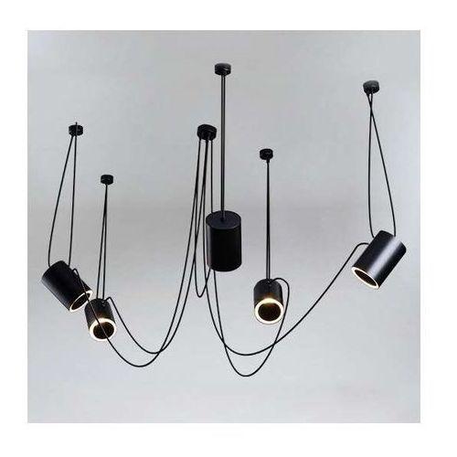 Shilo Lampa wisząca dubu 9028/e14/cz metalowa oprawa modernistyczny zwis tuby czarne (1000000427608)