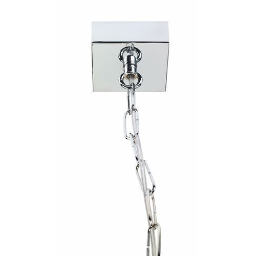 Kaspa Lampa wisząca vita s 10151103 designerska oprawa zwis klatka loft chrom przezroczysta