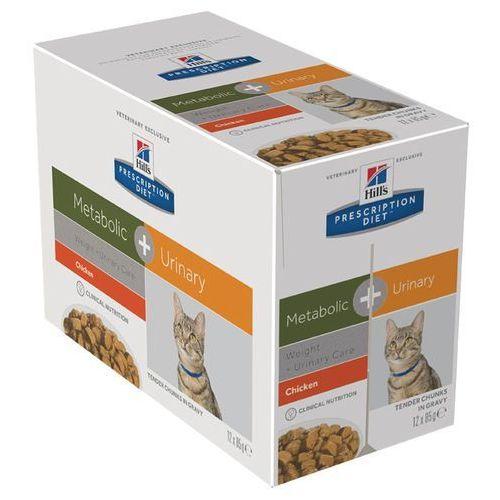 Hills prescription diet feline metabolic + urinary - 12 x 85 g