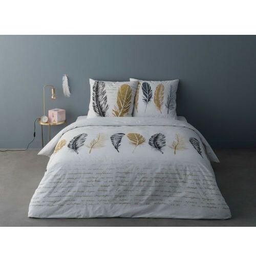 Vente-unique Perkalowa pościel punata – kołdra 220 × 240 cm i 2 poszewki na poduszki 65 × 65 cm