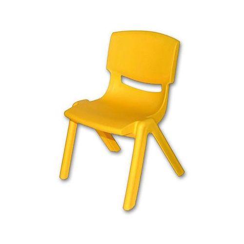 krzesełko dziecięce z tworzywa sztucznego kolor żółty marki Bieco