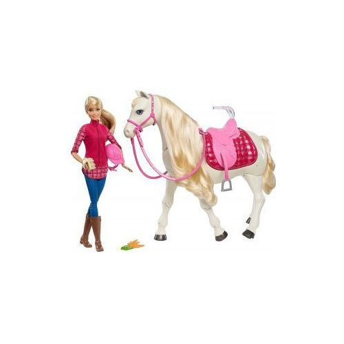 Mattel Barbie interaktywny funkcyjny koń + lalka frv36