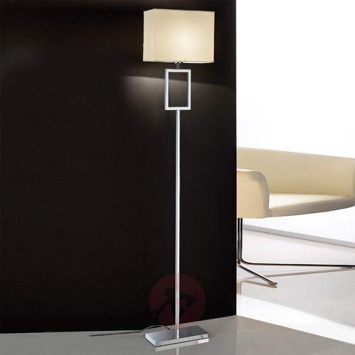 Piękna lampa stojąca Renee z abażurem z materiału