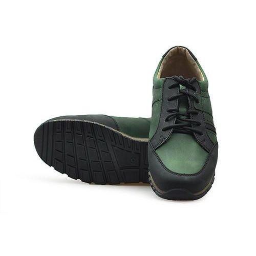 Półbuty 212-4216-2-609610e1 zielone/czarne, Lesta