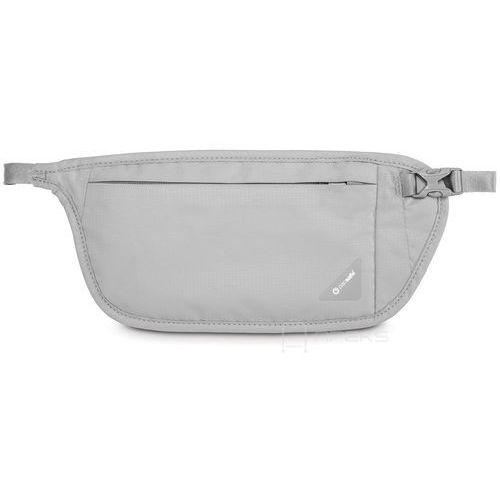 coversafe v100 saszetka podróżna biodrowa / etui podróżne / szara - neutral grey marki Pacsafe