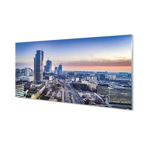 Tulup.pl Obrazy akrylowe warszawa panorama wieżowce wschód słońca