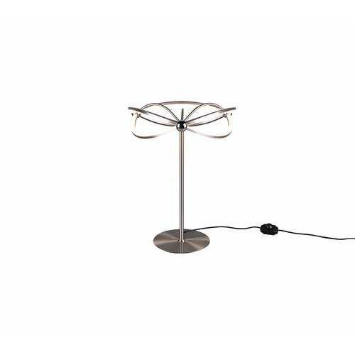 Trio Charivari 521210107 lampa stołowa lampka 1x26W LED niklowa (4017807454017)