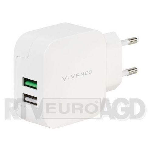 Vivanco Ładowarka sieciowa 37563 fast charging 2 x usb 2.4a+1a (4008928375633)