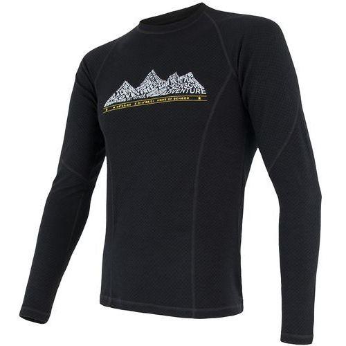 koszulka termoaktywna z długim rękawem merino df adventure m black xl marki Sensor