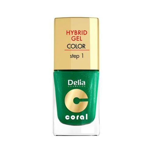 Delia hybrid gel step 1 10 metaliczna zieleń żelowy lakier do paznokci