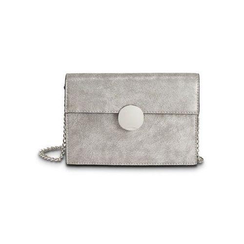 Mała torebka na ramię z okrągłym elementem szary metaliczny - srebrny marki Bonprix