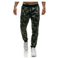 Spodnie męskie joggery zielone Denley W1372, kolor zielony