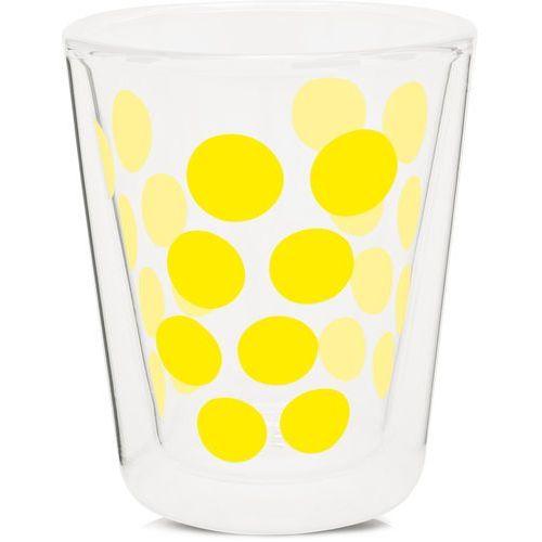 szklanka z podw. ściankami 200ml, żółta przezroczysty, zółty marki Zak!