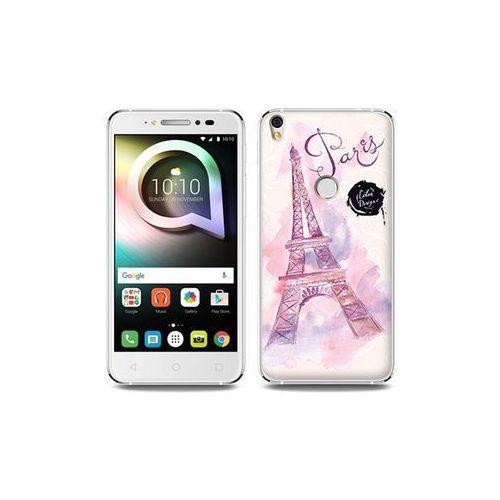 Alcatel Shine Lite - etui na telefon Fantastic Case - różowa wieża eiffla, kolor różowy