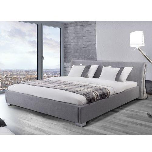 Nowoczesne łóżko tapicerowane ze stelażem 160x200 cm - PARIS szare